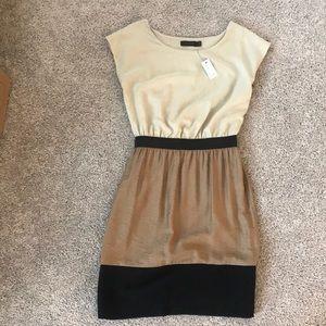 New tan and black dress